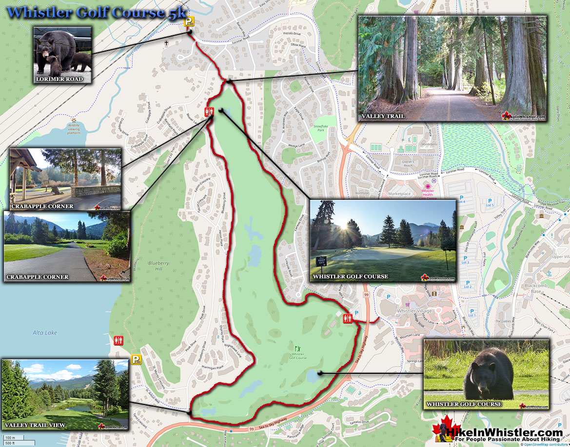 Whistler Golf Course Running Map
