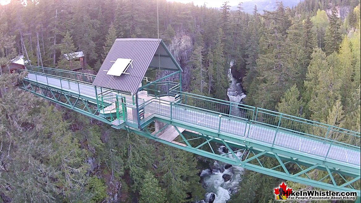 Whistler Bungee Bridge Aerial View