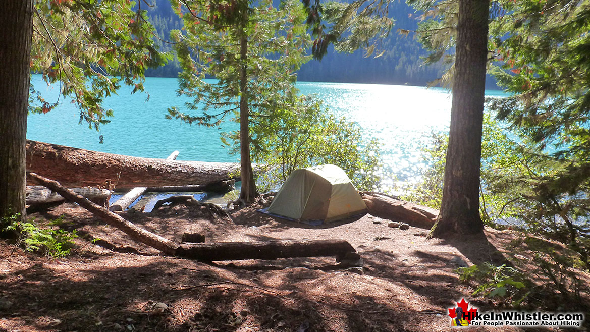 Campsite Overlooking Cheakamus Lake