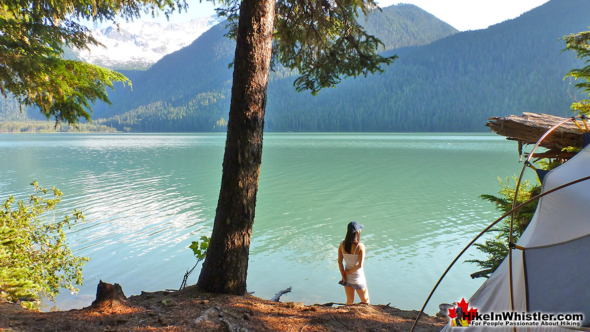 Cheakamus Lake Tent View