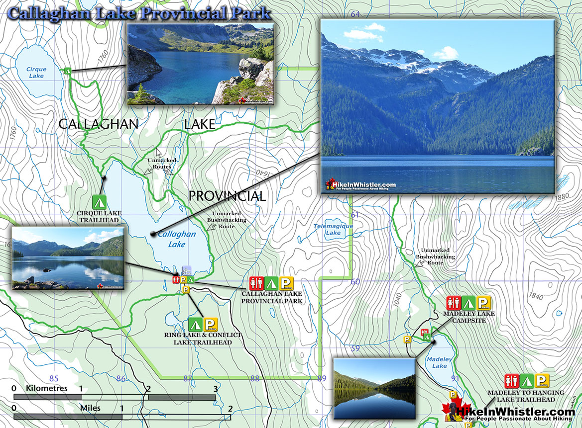 Cirque Lake Hiking Trail Map - Hike in Whistler