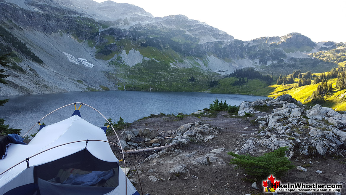 Cirque Lake Tent View - Hike in Whistler