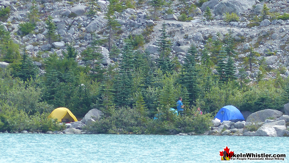 Joffre Lakes Campsite at Upper Joffre Lakes