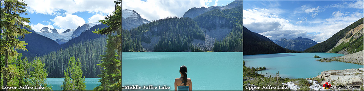 Lower, Middle and Upper Joffre Lakes