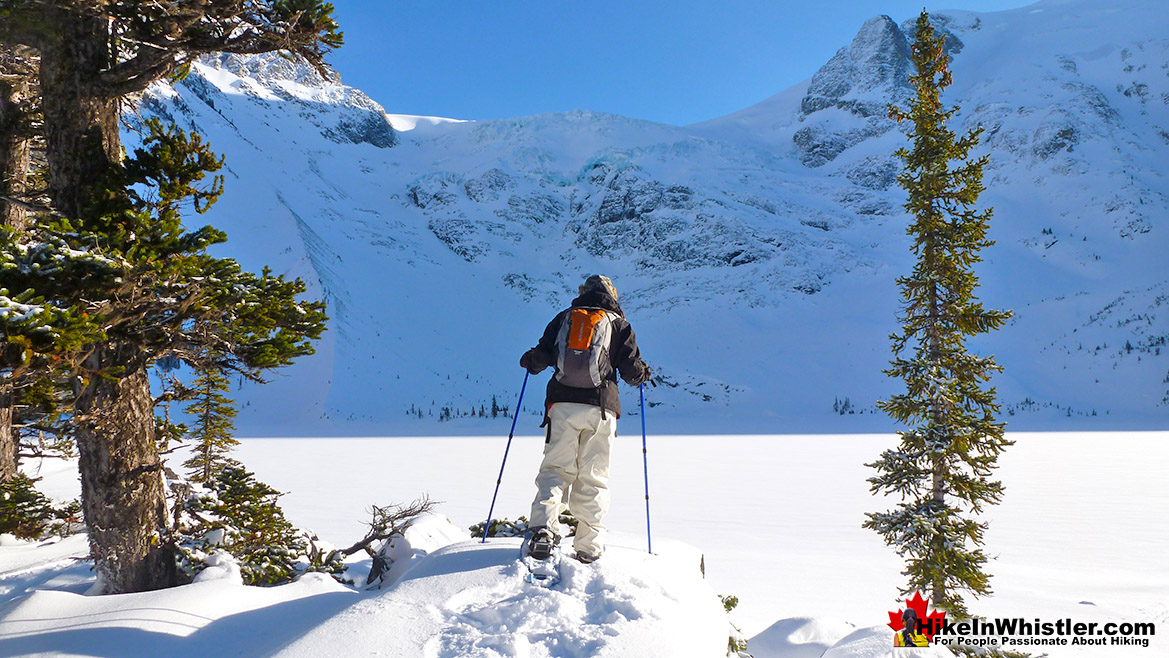 Joffre Lakes Snowshoeing Hike in November
