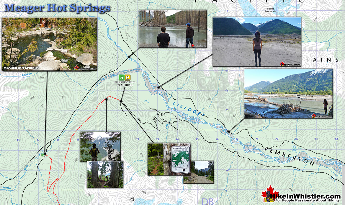 Meager Hot Springs Map