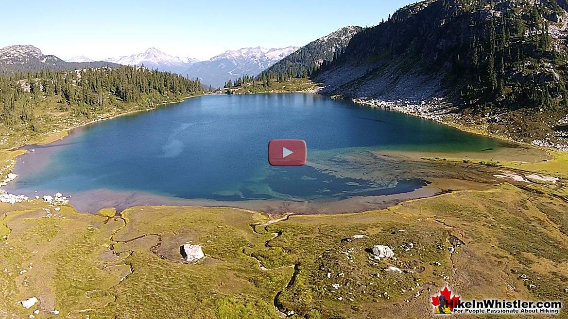 Rainbow Lake Aerial View - Hike in Whistler