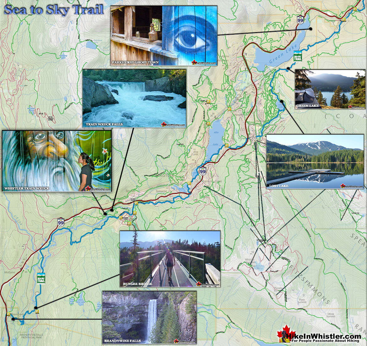 Sea to Sky Trail Map - Hike in Whistler