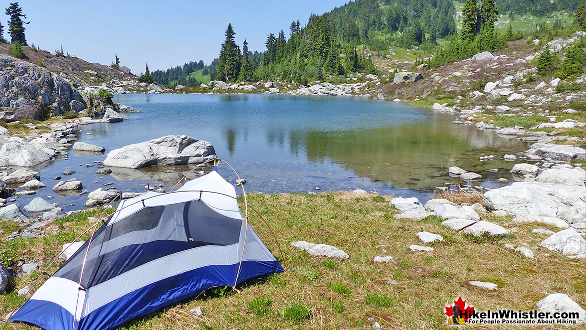 Tent & Tarn in the Sproatt Alpine near Northair Mine
