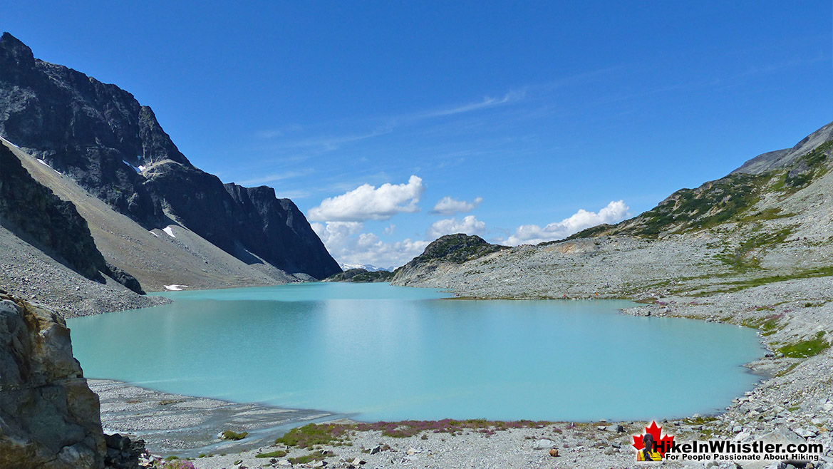 Beautiful Wedgemount Lake from Wedge Glacier