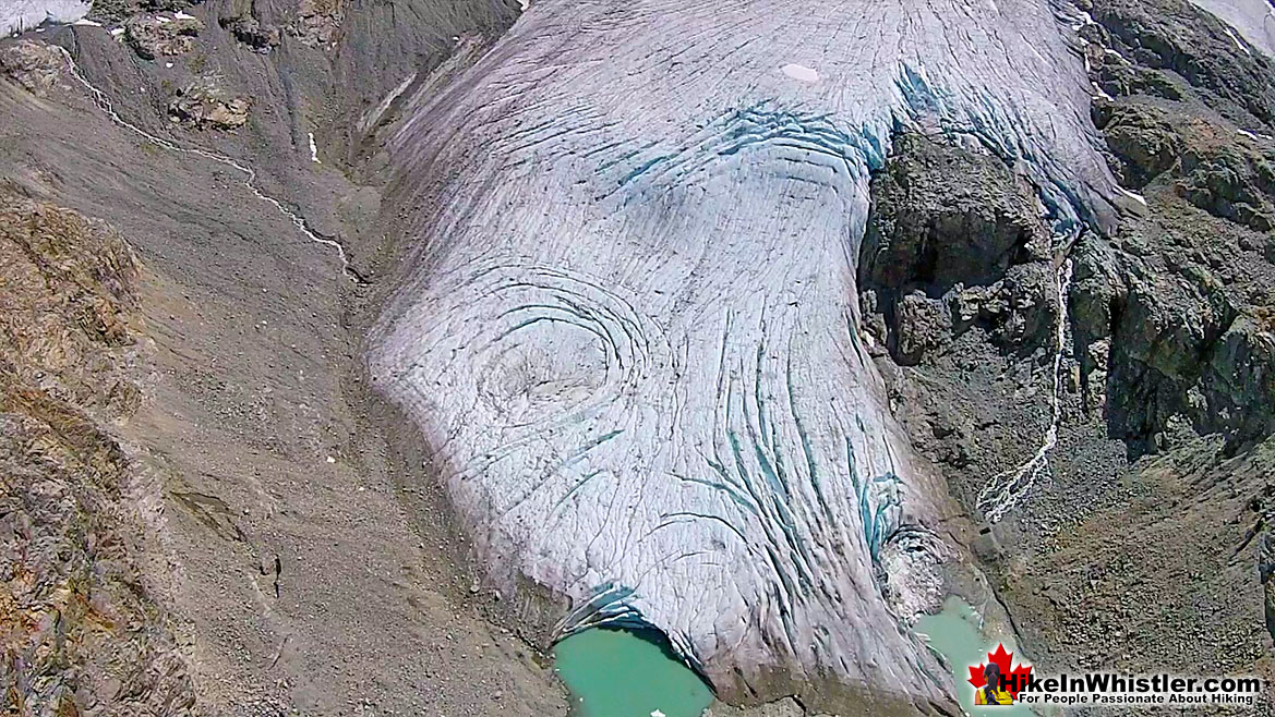 Ablation Zone Aerial View Wedgemount Glacier