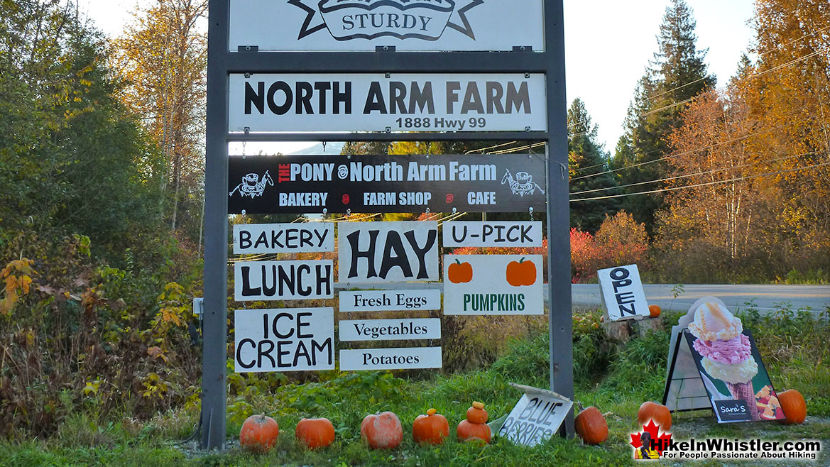 North Arm Farm Sign