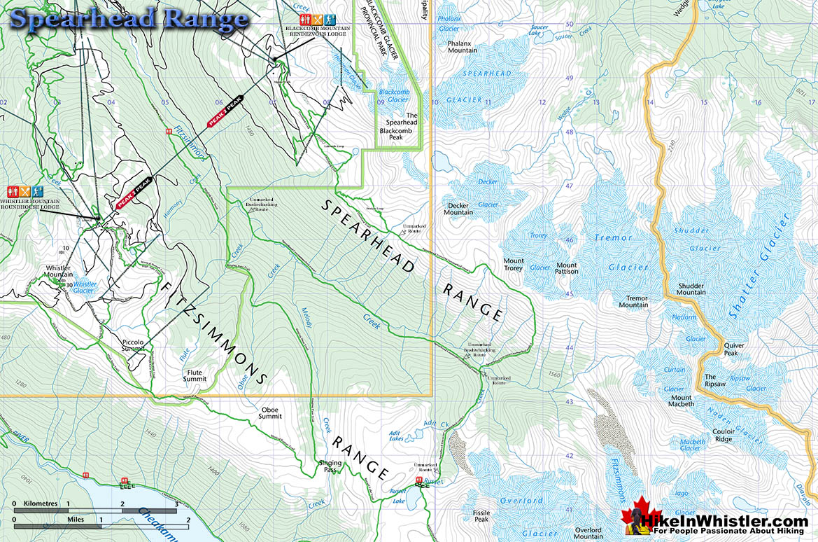 Spearhead Range Topo Map
