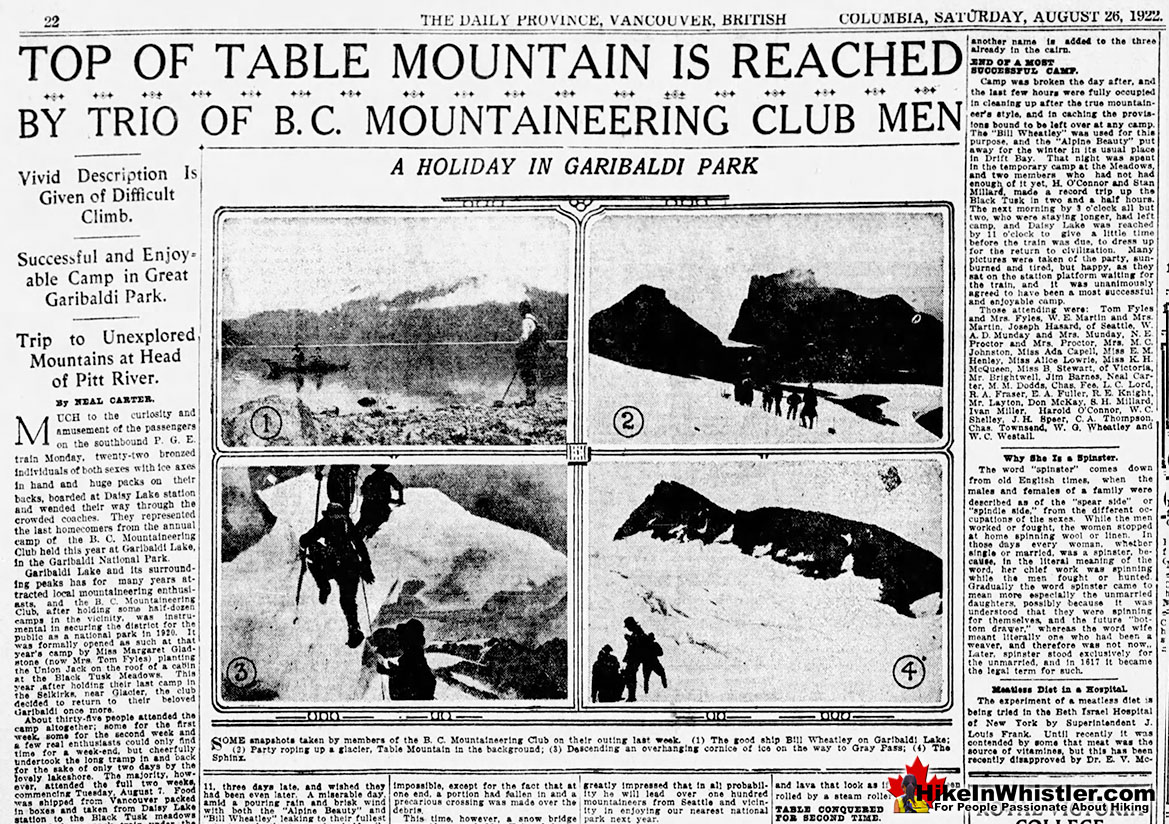 The Table Conquered a Second Time 1922