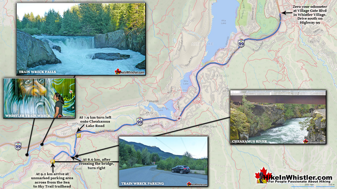 Whistler Train Wreck Map