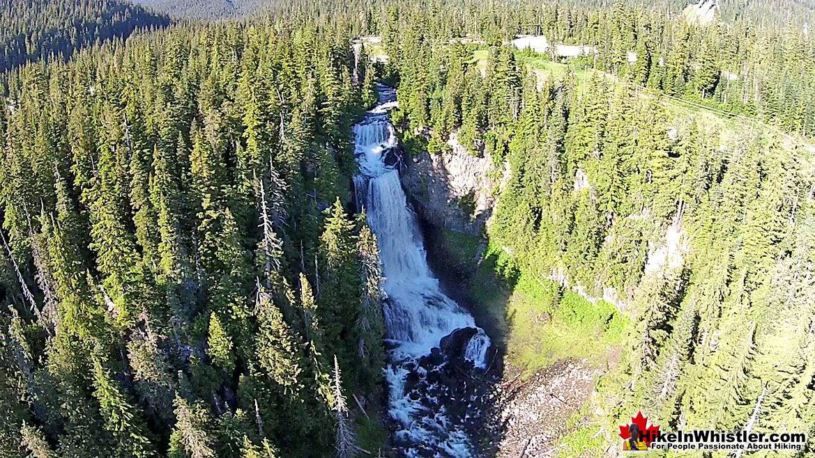 Aerial View of Alexander Falls in Whistler