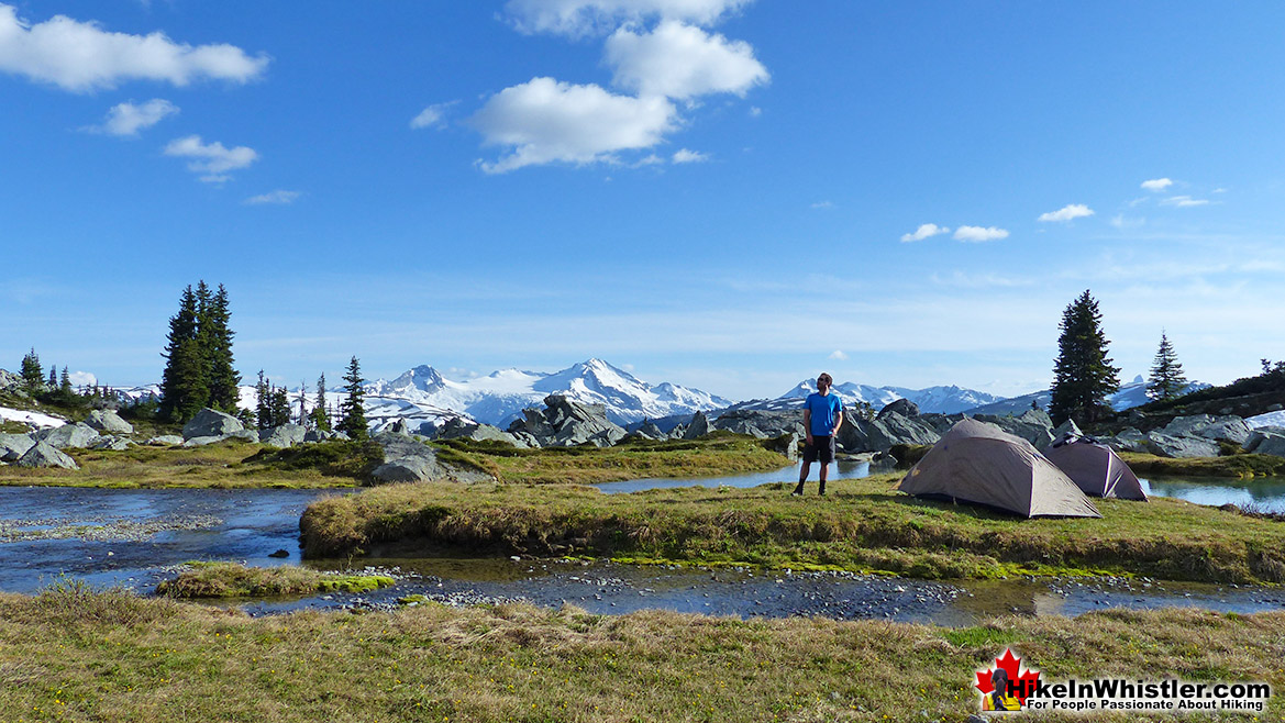 Tents at the Edge of Blackcomb & Garibaldi Park