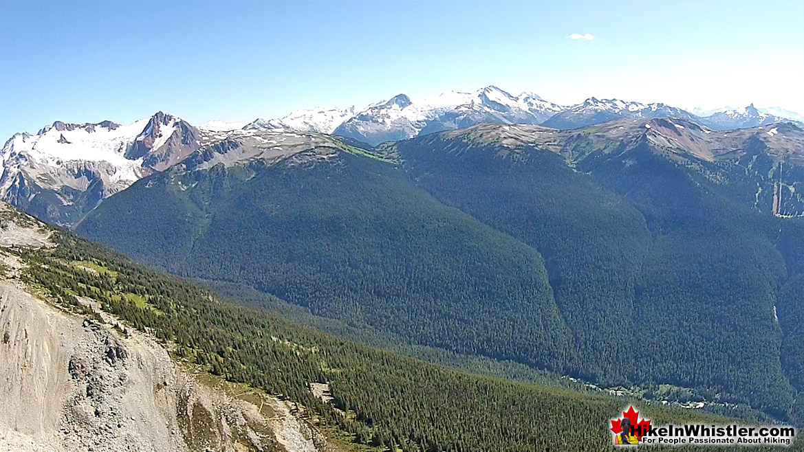 Blackcomb Mountain Aerial View of Fitzsimmons Range
