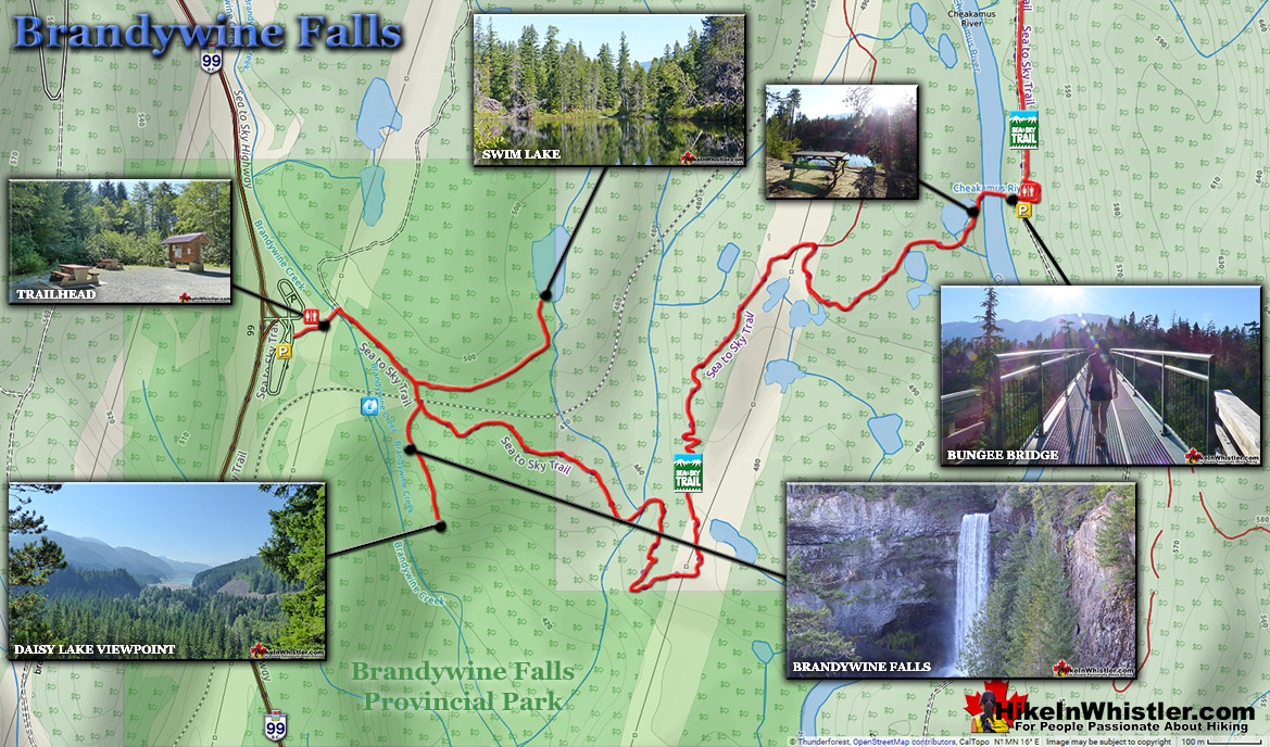 Brandywine Falls Hiking Trail Map