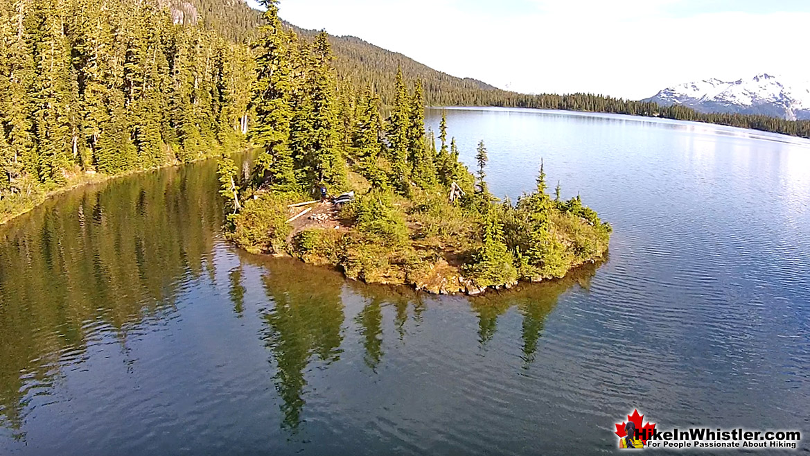 Callaghan Lake Aerial View of Island