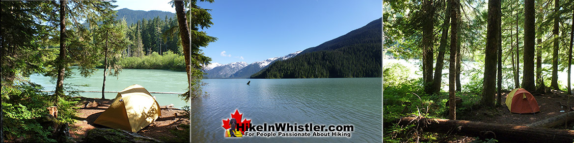 Cheakamus Lake Campground in Garibaldi Provincial Park
