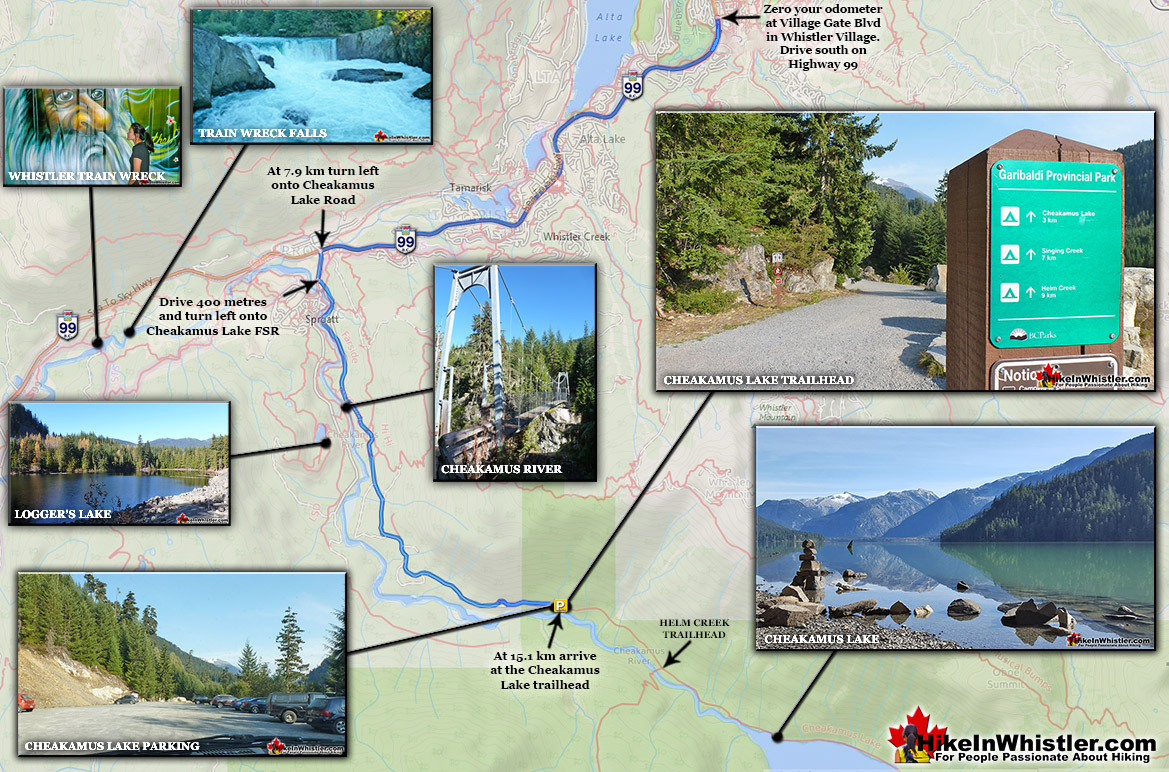 Cheakamus Lake Driving Directions