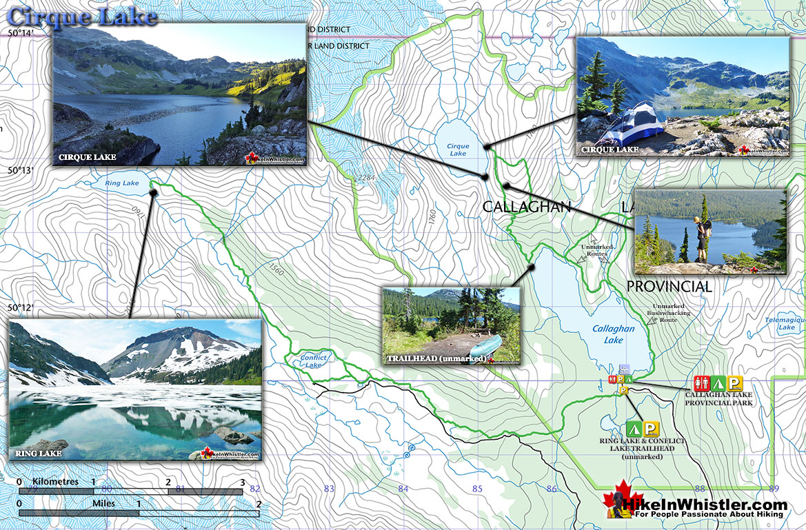 Cirque Lake Map