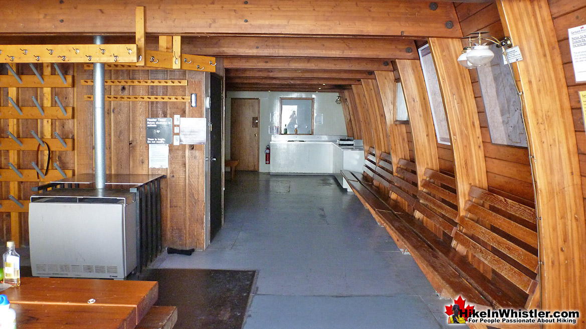 The Elfin Lakes Hut Lower Floor