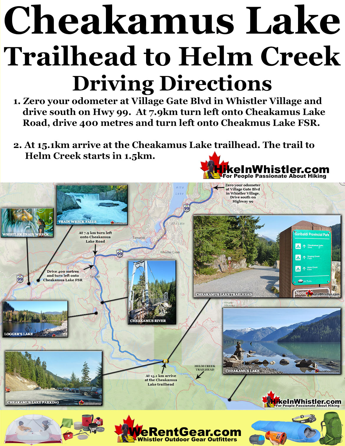 Helm Creek Directions Map