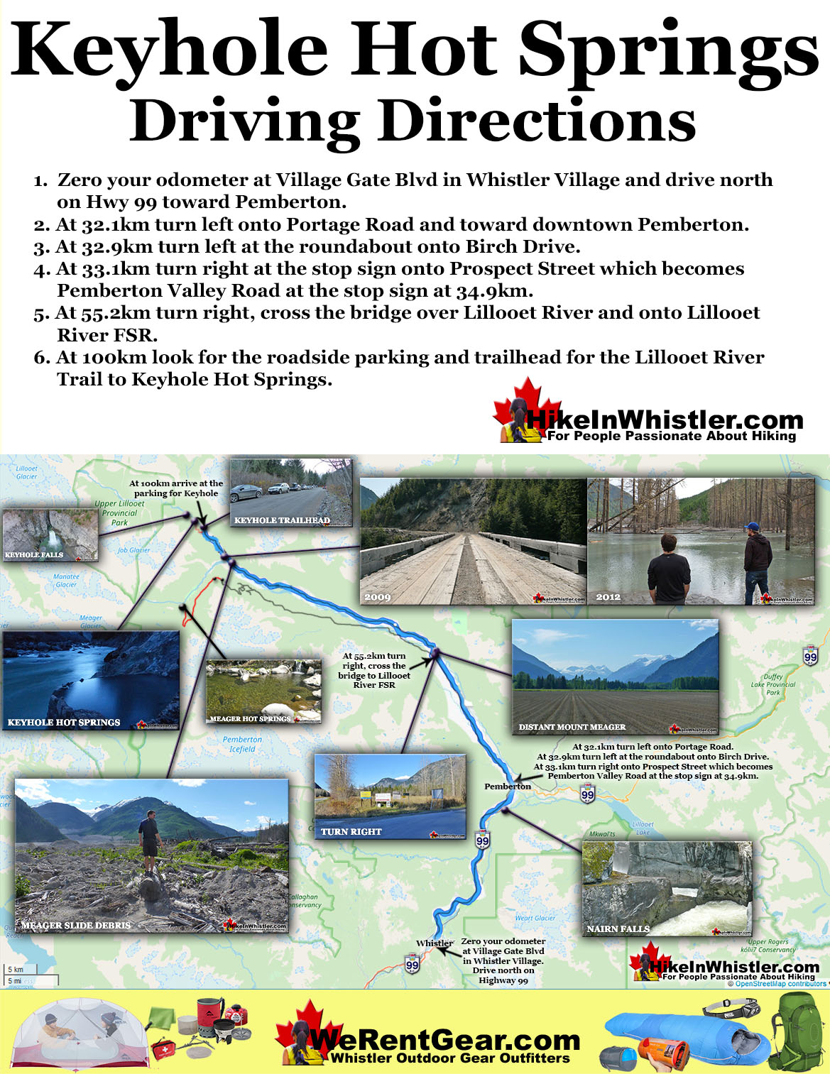 Keyhole Hot Springs Driving Directions Map