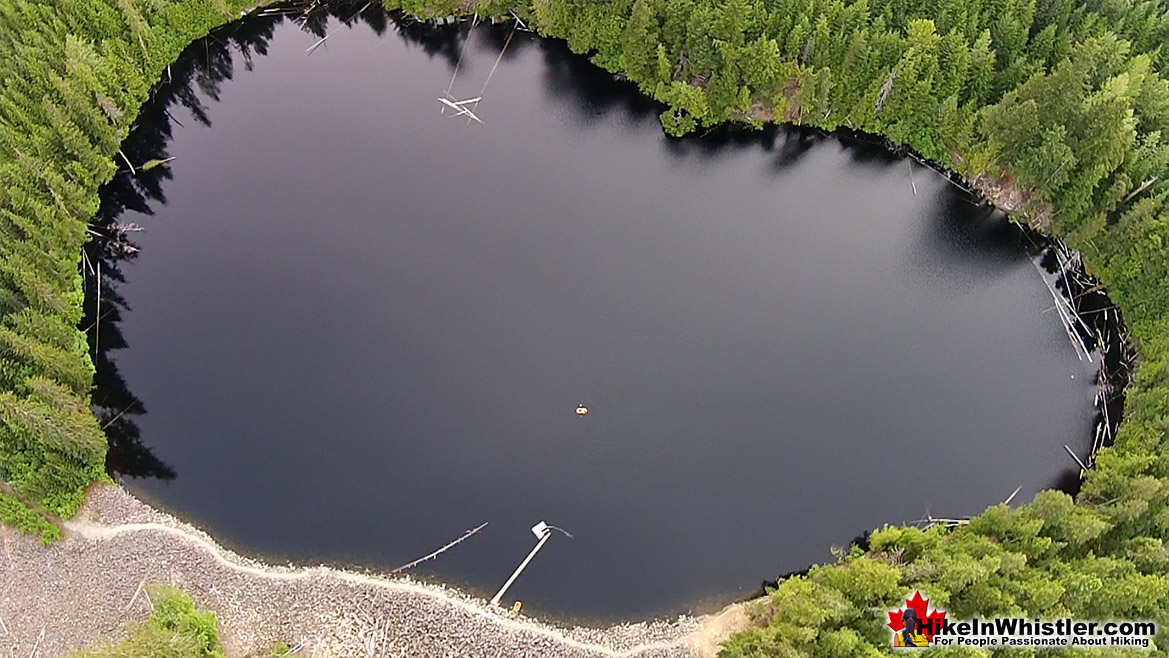 Logger's Lake Near Cheakamus River Aerial View