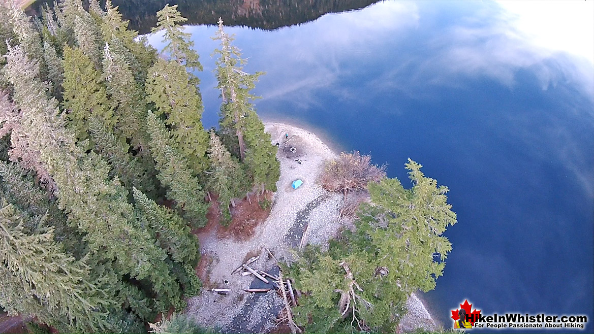 Madeley Lake Tent Aerial View