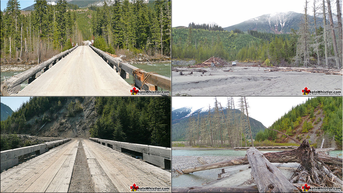 Meager Hot Springs Access Bridges Before and After