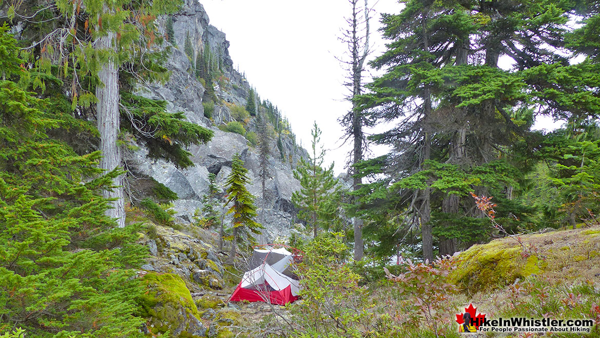 Newt Lake Tent and Boulders