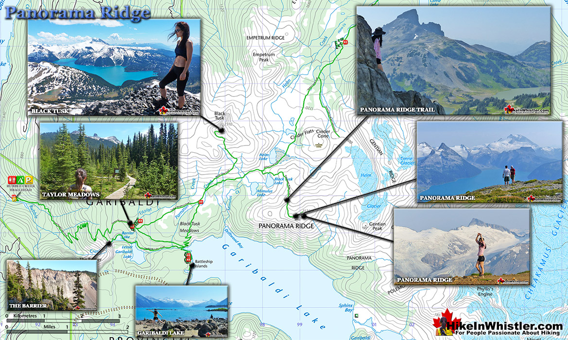 Panorama Ridge Map - Hike in Whistler