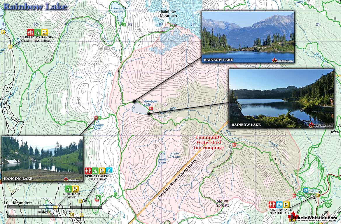 Rainbow Lake Trail Map - Hike in Whistler