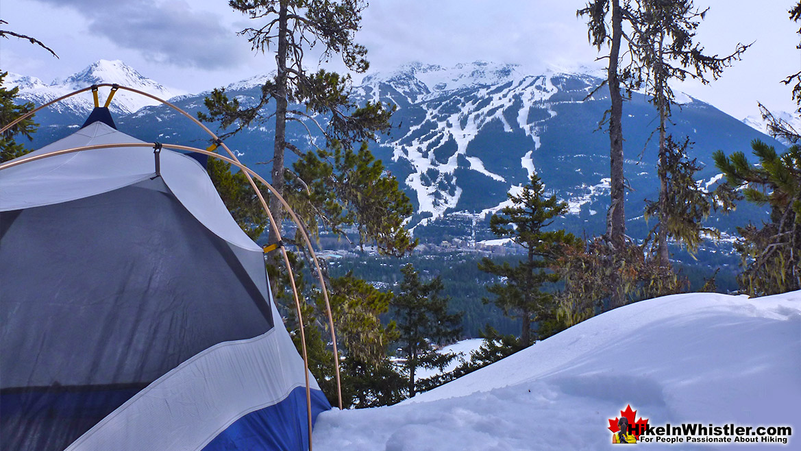 Flank Trail Tent View of Whistler Mountain