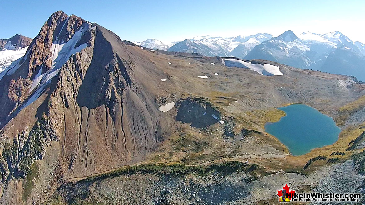 The Fissile and Russet Lake Aerial View