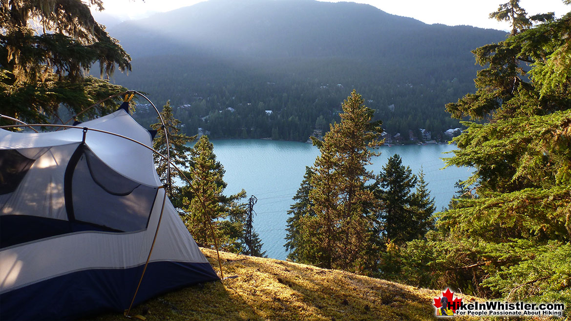Sea to Sky Trail Tent View of Green Lake