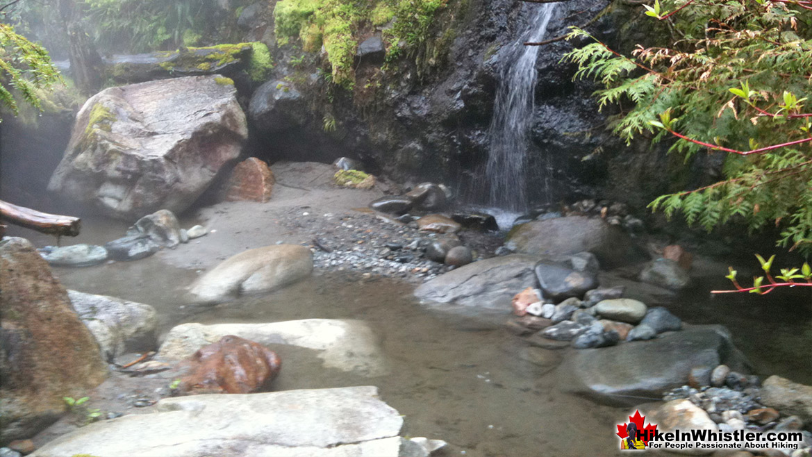 Sloquet Hot Springs Waterfall