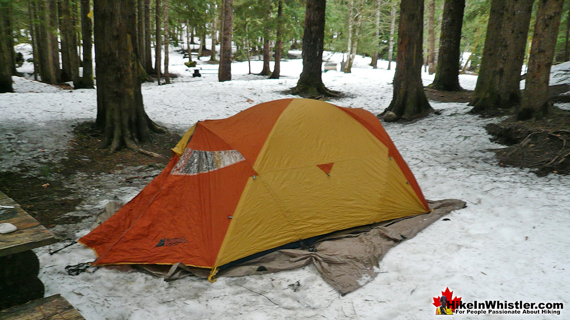 Sloquet Hot Springs Campsite Winter