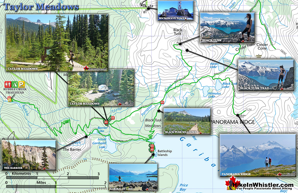 Taylor Meadows Trail Map Best Hiking Whistler