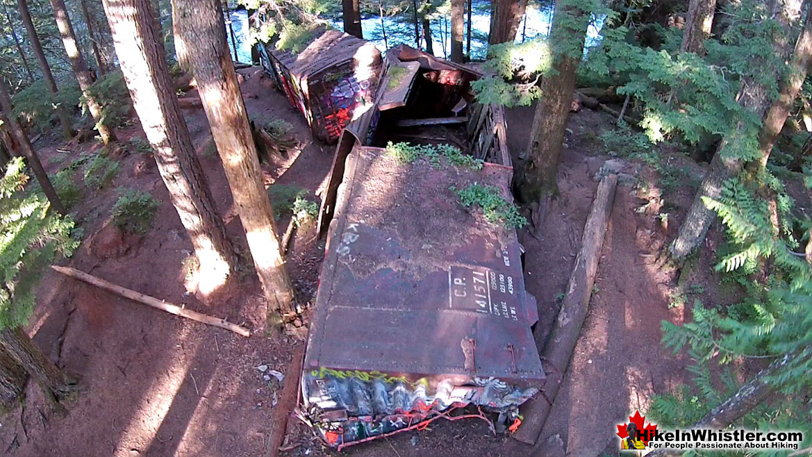 Whistler Train Wreck Aerial View