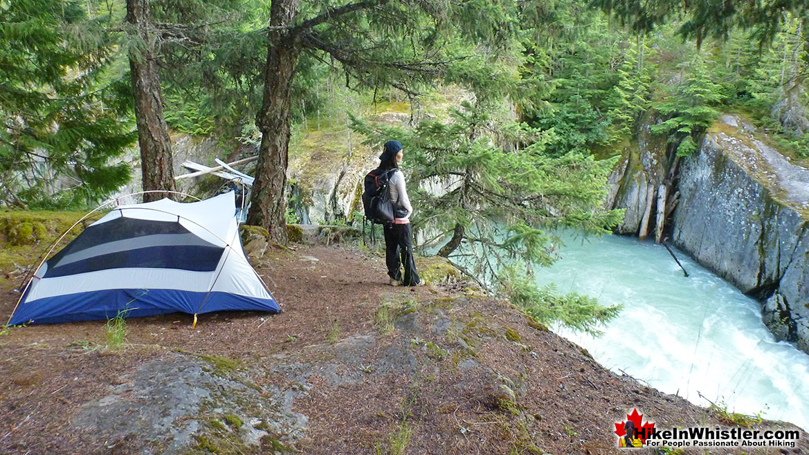 Cheakamus River Tent Near Logger's Lake