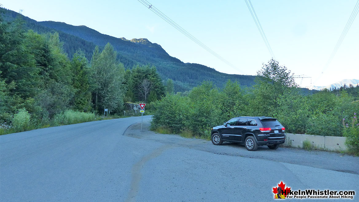 Trailhead Parking for Whistler Train Wreck