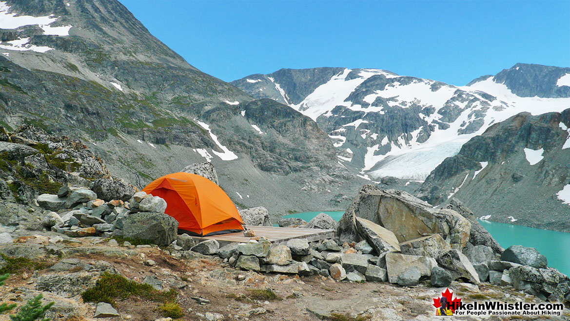 Wedgemount Lake Tent View