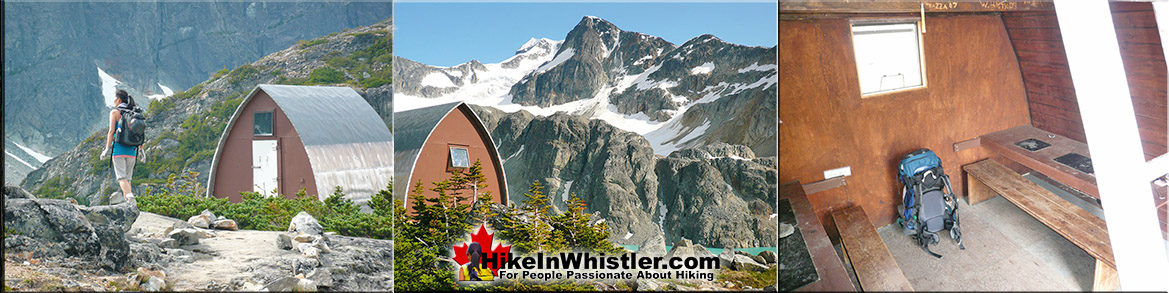 Wedge Hut at Wedgemount Lake in Garibaldi Park