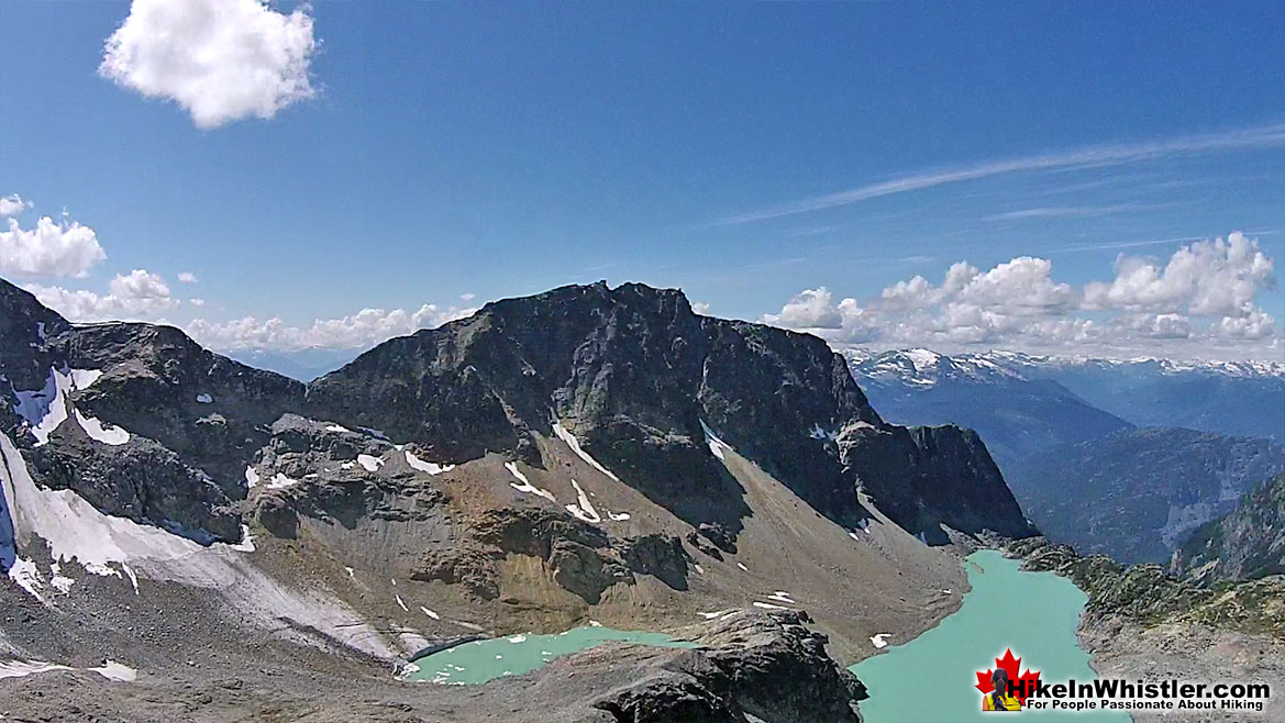 Wedgemount Lake Rethel Mountain Aerial