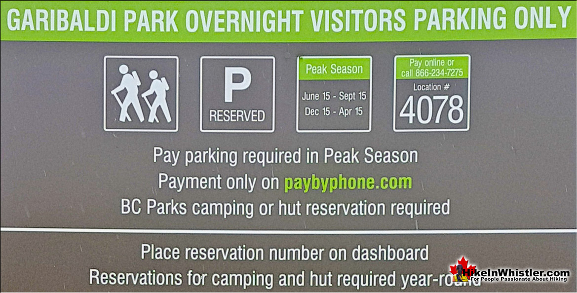 Overnight Parking Lot 4 Whistler Village for Garibaldi Park