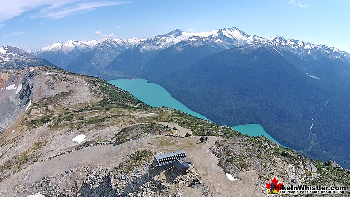 Whistler Mountain Aerial View of Cheakamus Lake
